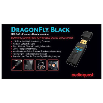 Audioquest DRAGONFLY Black USB  + Preamp + Headphone Amp DAC