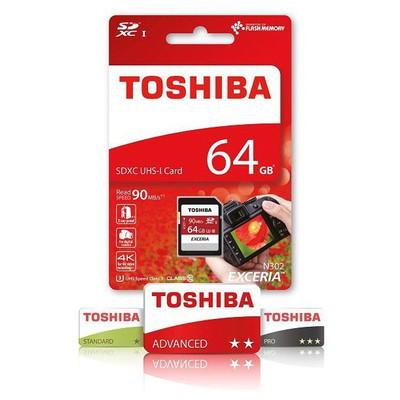 Toshiba 64GB SDXC UHS-I C10 U3 Exceria Micro SD Kart