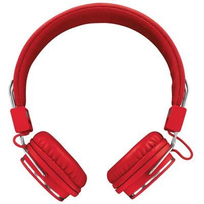 Trust Ziva Mikrofonlu Kulaklık-Kırmızı Kafa Bantlı Kulaklık
