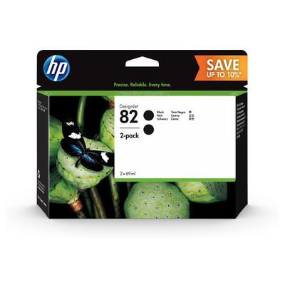 HP P2V34A 82 DesignJet Siyah 2'li Kartuş