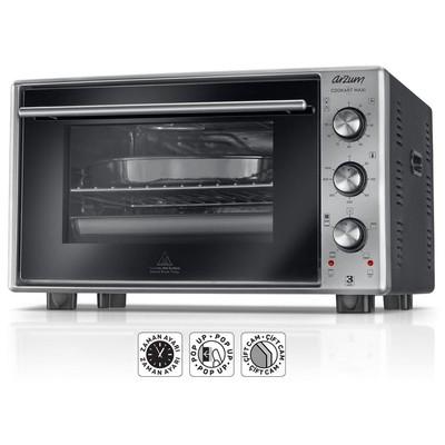 Arzum AR2002 Inox Cookart Maxi 50 Lt Çift Camlı Fırın