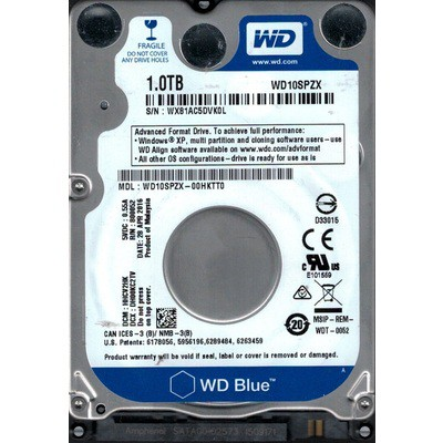WD Blue 1TB Mobile Hard Disk (WD10SPZX)