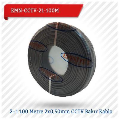 EMNIYET EMN-CCTV-21-100M 2+1 100 Metre 2x0,50mm CCTV Bakır 0 Güvenlik Aksesuarları