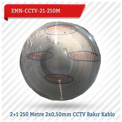 EMNIYET  EMN-CCTV-21-250M 2+1 250 Metre 2x0,50mm CCTV Bakır 0