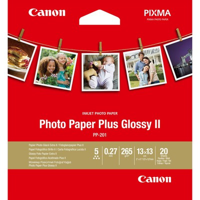 Canon 2311B060 IN-201 PARLAK, 13X13 KARE KAĞIT, 265GR, 20 YAPRAKLI FOTOĞRAF KAĞIDI Özel Kağıt