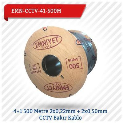 EMNIYET EMN-CCTV-41-500M 4+1 500 Metre 2x0,22mm + 2x0,50mm CCTV Bakır 0 Güvenlik Aksesuarları