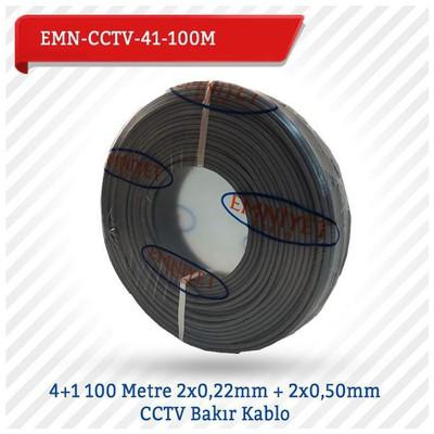 EMNIYET EMN-CCTV-41-100M 4+1 100 Metre 2x022mm + 2x050mm CCTV Bakır 0