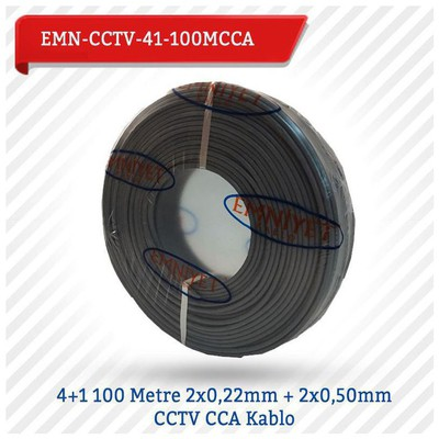 EMNIYET Emn-cctv-41-100mcc 4+1 100 Metre 2x0,22mm + 2x0,50mm Cctv Cca Kablo Güvenlik Aksesuarları
