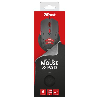 Trust 21963 ZIVA GAMING MOUSE WITH MOUSE PAD
