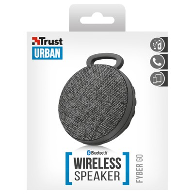 Trust 22010 Fyber Go Bluetooth Kablosuz Speaker - Gri Bluetooth Hoparlör