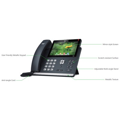Yealink  SIP-T48S IP PHONE 7 INC 800X480 COLOR TOUCH SCREEN 2PORTXGIGABIT (POE) 1XUSB PORT 6 SIP 29 DSS KEYS WALLMT W/O PSU