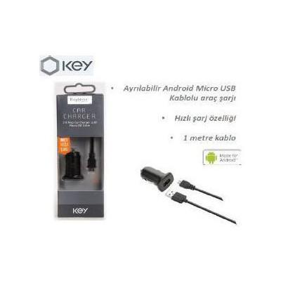 KEY 8435296909294 Mıcro Usb Araç Şarjı Cep Telefonu Aksesuarı
