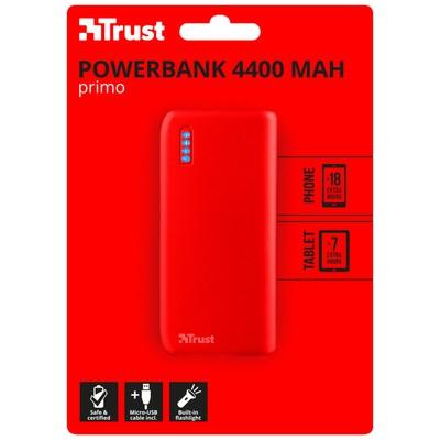 Trust 22136 PRİMO POWERBANK 4400 mAh MAT KIRMIZI