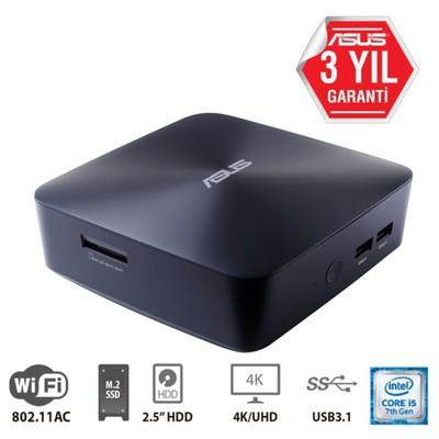Asus MINIPC UN65U-BM009M i5-7200U-Barebone-RAM YOK--DISK YOK--DOS-(KM YOK)-3YIL-HDMI-DP-WiFi-BT-VESA-CRD