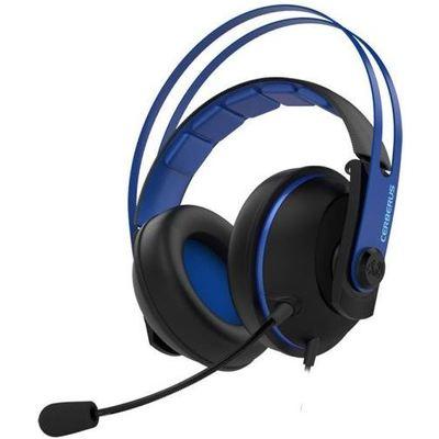Asus Cerberus V2 Mavi Oyuncu Kulaklığı, 53mm Essence Sürücü, Paslanmaz Çelik Kafabandı, Pc/ps4/xbox/mac Uyumlu Kafa Bantlı Kulaklık
