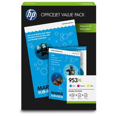 HP OfficeJet 953XL CMY Kartuş + A4 75 Yaprak (1CC21AE)