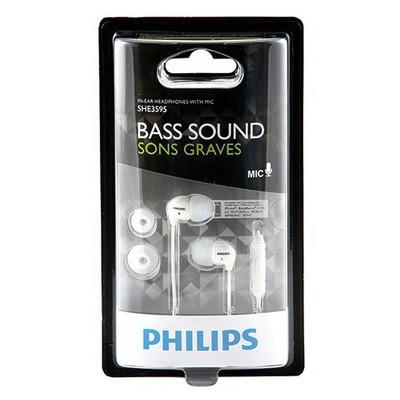 Philips Kulakiçi Kulaklık Mikrofonlu Bass Sound (she3595) Beyaz Kulak İçi Kulaklık