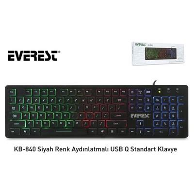Everest KB-840 USB Q Klawye Siyah