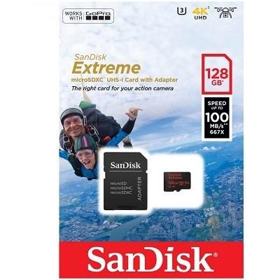 SanDisk Extreme 128GB microSD Kart (SDSQXAF-128G-GN6AA)