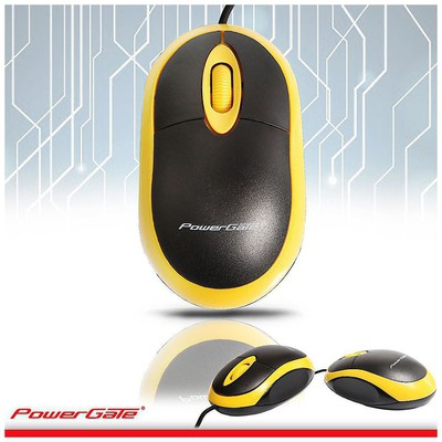 PowerGate PG-E190-SR Kablolu Mouse - Sarı-Siyah