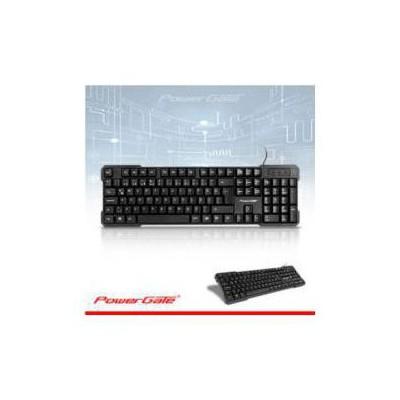 PowerGate PG-KB-X3 POWERGATE KB-X3 Q KLAVYE USB (Siyah)