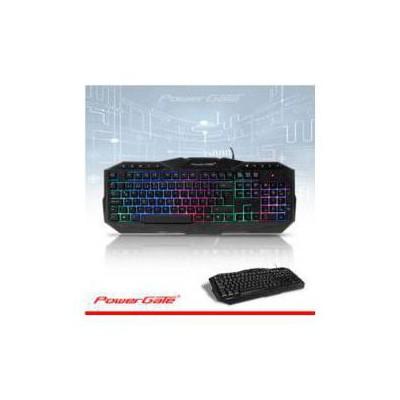 Powergate PG-KB-Z4 POWERGATE KB-Z4 M.medya Led Gaming KLAVYE USB (Siyah) Klavye Mouse Seti