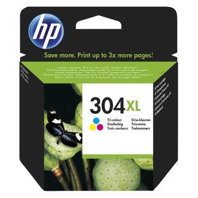 HP N9K07AE 304XL Yüksek Kapasiteli Üç Renkli Kartuş