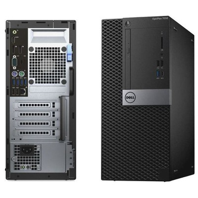 Dell N017O7050SFF02_WIN Opti 7050 SFF-Core i7-7700-8GB-1TB-Integrated-DVD RW-Kb-Mouse-W10Pro-vPr