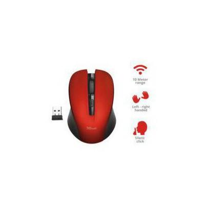 Trust Mydo Silent Click Kablosuz Mouse - Kırmızı (21871)
