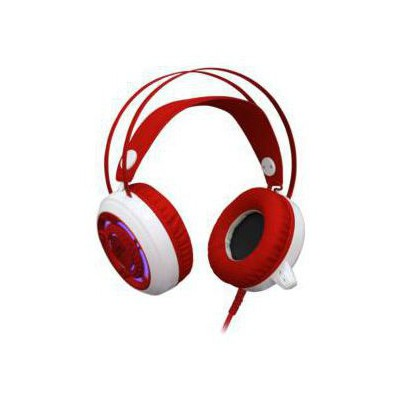Redragon Sapphire Gaming Headset kırmızı 64206 kablolu-Astarlı tam kafalık kulaklık-2 x 3.5 mm ja