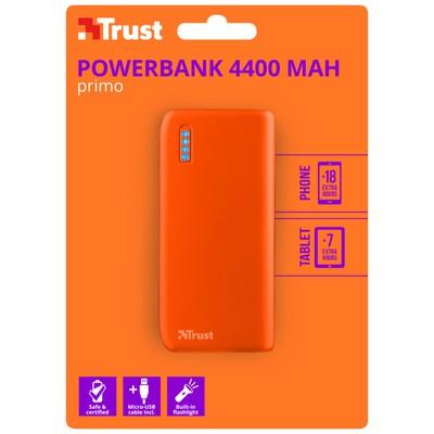 Trust 22061 Primo Powerbank 4400 Mah Mat Turuncu Taşınabilir Şarj Cihazı