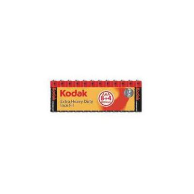 Kodak 30413153 Kodak AAA (8+4) Shrink Çinko Karbon İnce Pil Pil / Şarj Cihazı