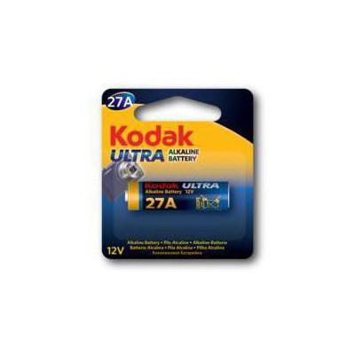 Kodak 30414402-ST-27A Ultra Alkalin 27A Kumanda 0i (5 pack) Pil / Şarj Cihazı