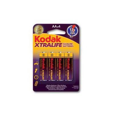 Kodak KAA-4-30952027 XTRALIFE 4 adet Alkalin Kalem Pil-AA Pil / Şarj Cihazı
