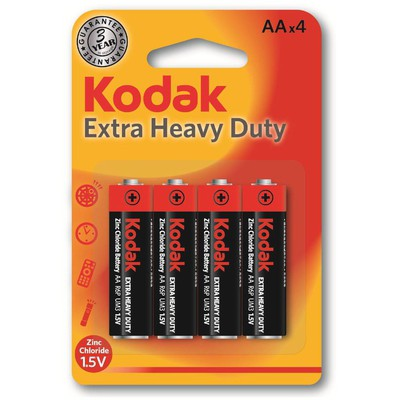 Kodak KAAHZ-4-30951044 4 adet Blister Ambalaj Çinko Karbon Kalem Pil Pil / Şarj Cihazı