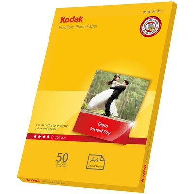 Kodak CAT5740-805 200 gr/m2 20x30 50'li Paket İnkjet Fotoğraf Kağıdı Özel Kağıt