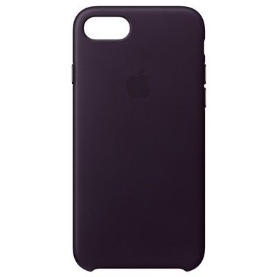 Apple iPhone8 /7 için DeriKılıf - PatlıcanMoru Cep Telefonu Kılıfı