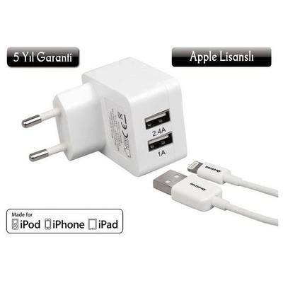 AWETRON AWE-102Y Dual USB 3,4A Şarj Cihazı (Apple Lisanslı & 5 Yıl Garantili) Şarj Cihazları