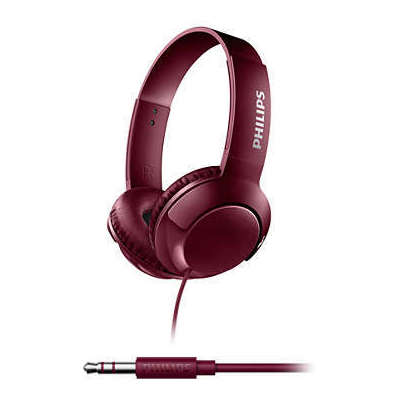 Philips SHL3075RD/00 KIRMIZI KAFABANTLI MİKROFONLU Kafa Bantlı Kulaklık