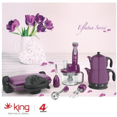 King Eflatun Serisi P315MP-K968-P637 (Çaycı-Blender Set-Tost)