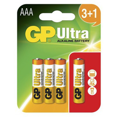 GP LR6 Ultra Plus Alkalin Kalem Pil 4'lü Blister Pil / Şarj Cihazı