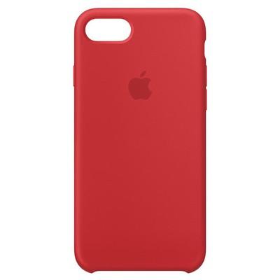 Apple MQGP2ZM-A iPhone 8 - 7 için Silikon Kılıf - Kırmızı
