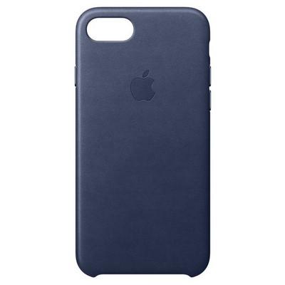 Apple iPhone 8/7 Leather Case - Gece Mavisi Cep Telefonu Kılıfı