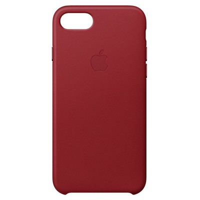 Apple iPhone 8 7 için Deri Kılıf-(PRODUCT) RED
