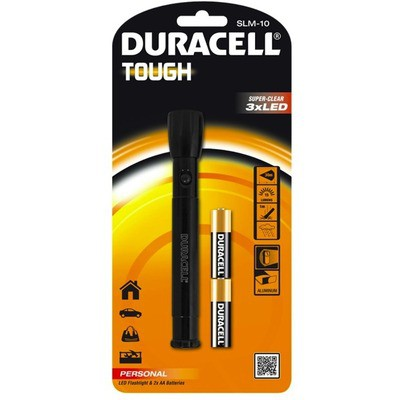 Duracell SLM-10 Tough LED Fener - 2xAA Pil Hediyeli