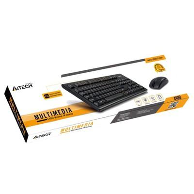 A4 Tech 4100N Q Multimedya Klavye Mouse Set Siyah
