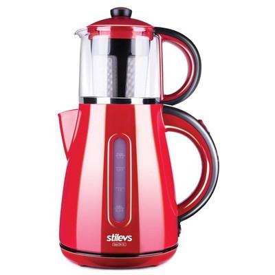Stilevs Çays CM-16 Kırmızı Çay Makinesi