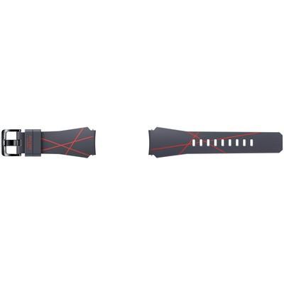 Samsung Arik Levy Design Gri-Kırmızı Gear S3 Kayış
