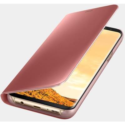 Samsung EF-ZG955CPEGWW Pembe S8 Plus Clear View Kılıf Cep Telefonu Kılıfı