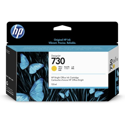 HP P2V64A 730 130-ml Yellow DesignJet 130ml Sarı mürekkep kartuşu